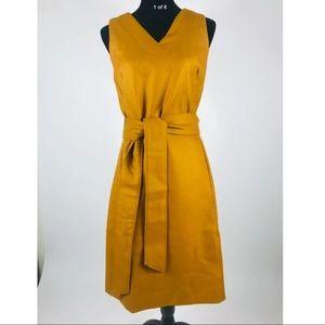 J.CREW V Neck Tie Waist Dress Double Serge Wool 4T